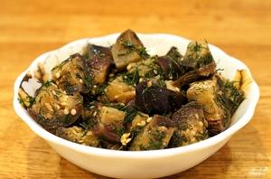 Рецепт маринованных баклажанов с чесноком с фото